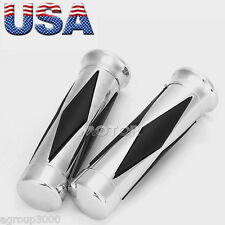"1"" Motorcycle Handle Bar Hand Grips For Harley Davidson Road King Softail Custom"