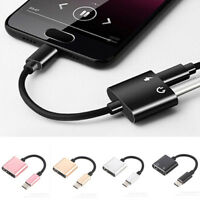 2 in 1 USB C Cable Adapter Charge and Headphone Type-C to 3.5mm Head Aux Audio
