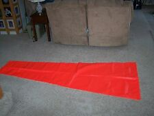 Safety Flag 35 by 91 Wind Sock Nylon  Red/Orange  NEW  FREE SHIPPING