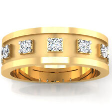 0.29 ct Certified Diamonds Mens Engagement Ring 14Kt Yellow Gold Band Size W SI1