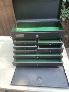Vintage Talco 7 Drawer Engineers Metal Tool Chest in Good Used Condition