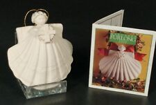 "Margaret Furlong 1993 Porcelain 3"" Angel w/Cross Collectible Ornament~Ships Free"