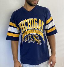 New listing Vintage Michigan Wolverines Jersey T Shirt Mens L Logo 7 Single Stitch Usa Rare