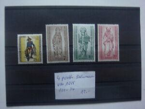 4 postfr. BERLIN-marken von 1955 mit den Mi.-Nrn. 131-134