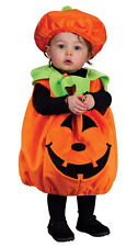 TODDLER PUMPKIN KIDS HALLOWEEN COSTUME BOYS GIRLS FANCY DRESS UP OUTFIT NEW 1-2