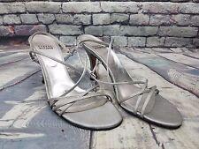 Women's Stuart Weitzman shoes Sensual Argento Evening Sandals B1919 Size 8.5 N