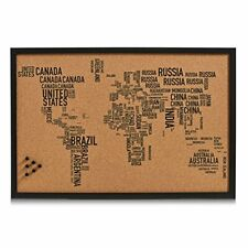 Zeller  11570 Pin Board World Letters, cork, black, 60 x 40 cm