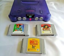 Nintendo 64 (Rare Clear Blue) Console System NUS-001 Excellent+ From Japan #2019