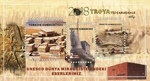 TURKEY 2018 OUR SITES IN UNESCO WORLD HERITAGE LIST, TROY YEAR, TROJAN HORSE MNH