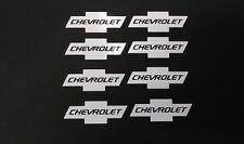 "8X Chevy Bowtie   with word vinyl decal 2"" Logo  Truck window tumbler Laptop"