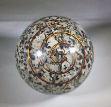 LARGE (60-70mm) DALMATIAN JASPER STONE ORGONE GEMSTONE SPHERE ORGONITE SPHERE