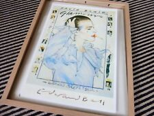 david bowie signed edward bell A3 scary monsters glamour painting repro poster