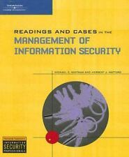 Readings and Cases in the Management of Information Security by Whitman, Michae
