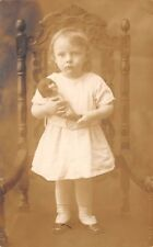 POINT RICHMOND, STATEN ISLAND, NY, GIRL HOLDING DOLL, REAL PHOTO PC dated 1921