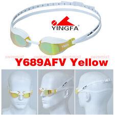 2019 NEW YINGFA Y689AFV YELLOW SWIMMING GOGGLES ANTI-FOG UV PROTECTION FREE SHIP