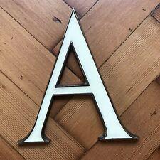 Vintage / Antique Art Deco Letter A Signage Brass / Enamel