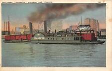 WINDSOR, Ontario Canada   CAR FERRY BOAT~Transfer   c1920's Postcard