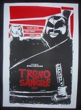 THRONE OF BLOOD Signed Cuban Screen-printed Poster for Kurosawa Movie JAPAN CUBA