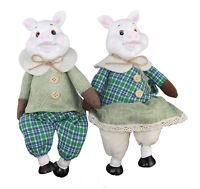 Design Schwein Paar 25 cm 2019 Jahr des Erd Schweins Dekoration Figur  LN25-6