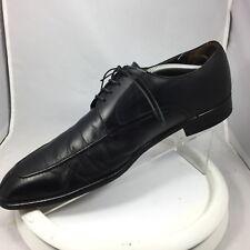 A.TESTONI Men Black Label Italian Dress Leather Shoe 10.5 Split Toe Oxford