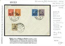O133 1945 GREECE BOIC Dodecanese Islands *Rodi* Rhodes *MEF* GB Overprints Cover