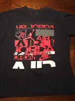 Vintage Nike Air Jordan Flight Jumpman Shirt Black White Red XL