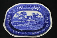 """Copeland Spode's Tower Blue Large 15"""" Platter with Old Mark"""