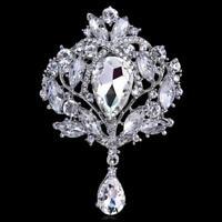 Pin Brooch for Women Queen Silver Back Rhinestone Fashion Jewelry Broach crystal