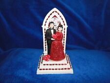 New 40th Wedding Anniversary Couple Caketopper with church altar background