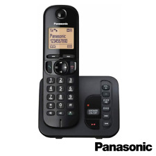 PANASONIC TGC220 DIGITAL CORDLESS PHONE WITH ANSWER MACHINE BLACK SINGLE
