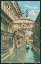 Venezia Città Ponte Sospiri Gondole cartolina XB4567