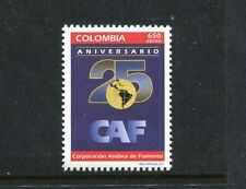 Colombia C879, MNH, Globe Map 1995. x23582