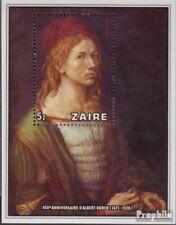 zaïre zaïrois Bloc 21 (complète edition) neuf avec gomme originale 1978 Mort alb