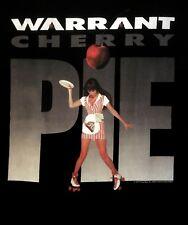 WARRANT cd cvr CHERRY PIE Official Black SHIRT Size XL new