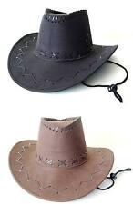 Cowboyhut Westernhut Cowboy Hut Wildleder-Optik Erwachsene