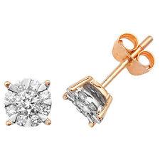 Pendientes Con Diamante Tacha Oro Amarillo 0.50 Quilates Tasación Certificado
