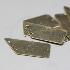 23x8.5mm 3085C-N-70 One Piece Gold Plated Brass Base Hammered Irregular Link