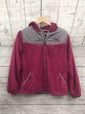 The NorthFace Girls Pink & Gray Zip Fleece Hoodie Jacket size XL
