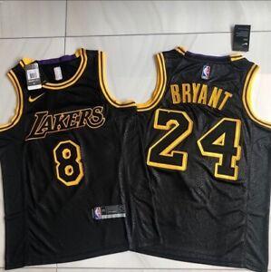 Men's Kobe Bryant Black Mamba Day #8 #24  Jersey XL