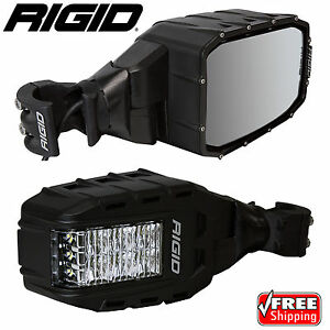Rigid 64011 Reflect Rear-View Mirrors with LED Lights for RZR UTV Pair