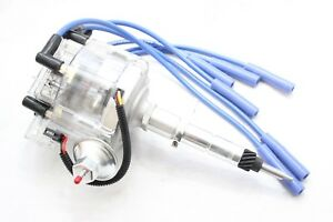 Clear HEI Distributor Coil 8.5mm Spark Plug Wires Chevy 216 235 261 Straight 6
