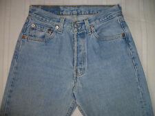 """vintage LADIES PALE BLUE 501 LEVIS JEANS - WAIST 27"""", INSIDE LEG 28"""""""