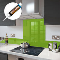 Glass Splashbacks Lime Green and Glass Upstands - Made By Premier Range