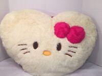 "VGUC-HTF-RARE-21"" x27"" Hello Kitty Plush Heart Pillow"