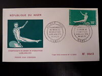 NIGER  AERIEN 138   PREMIER JOUR FDC      CHAMPIONNAT GYMNASTIQUE   100F    1970