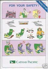 Safety Card - Cathay Pacific - B747 400 (S1839)