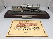 Danbury Mint Twelve Great American Steam Locomotives Pewter Trains Complete Set