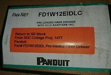 PANDUIT PAN-NET FD1W12EIDLC PRE LOADED FIBER DRAWER WITH 12 LC ADAPTERS 1RU