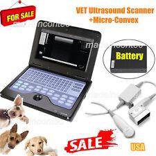 Veterinary Laptop Ultrasound Scanner Machine VET Micro Convex Probe,Cat/Dog/Pet