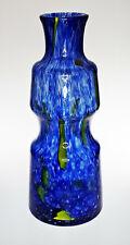 """cz74. NICE LARGE 14"""" PRACHEN GLASSWORKS FRANTISEK KOUDELKA FLORA VASE blue green"""